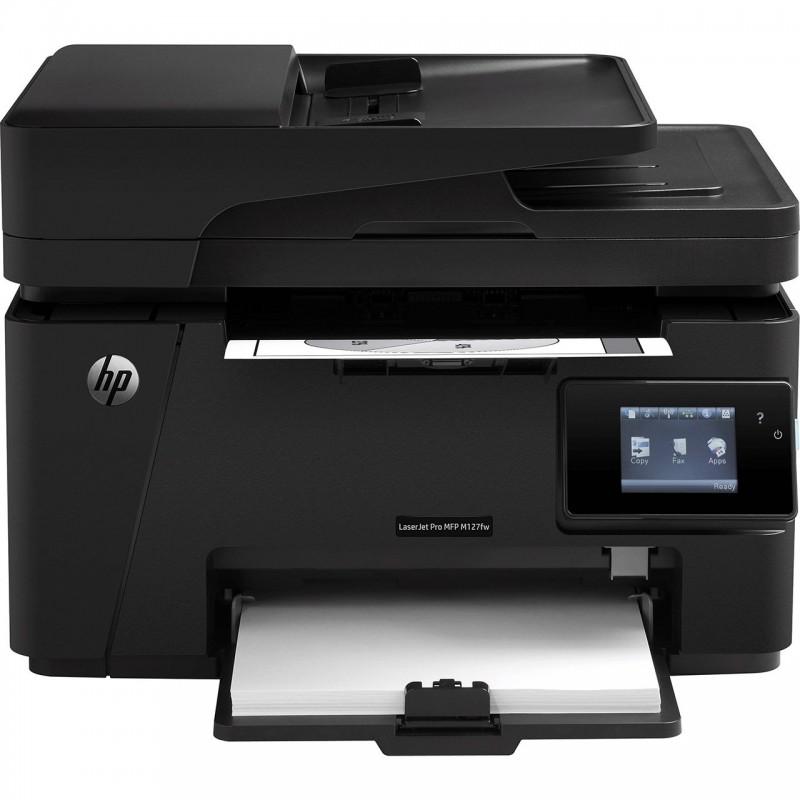 پرینتر چند کاره لیزری اچ پی مدل LaserJet Pro MFP M127fw HP LaserJet Pro MFP M127fw Multifunction Laser Printer