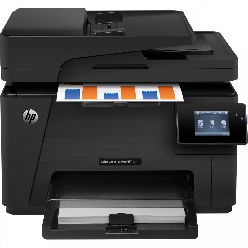 پرینتر چندکاره لیزری رنگی اچ پی مدل LaserJet Pro MFP M177fw HP LaserJet Pro MFP M177fw Multifunction Color Laser Printer